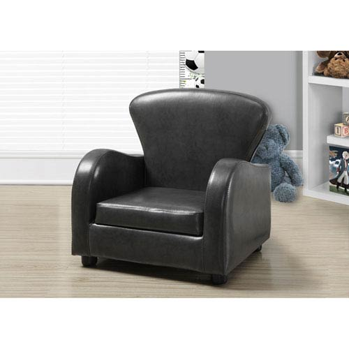 Charcoal Grey Youth Accent Chair