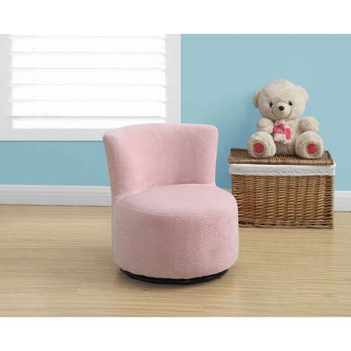 Pink Swivel Juvenile Chair