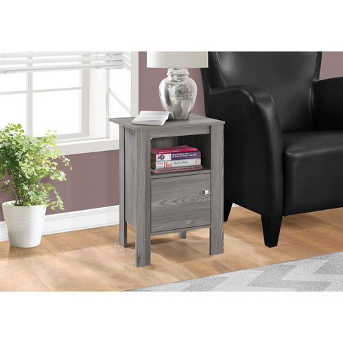 Grey Night Stand with Storage