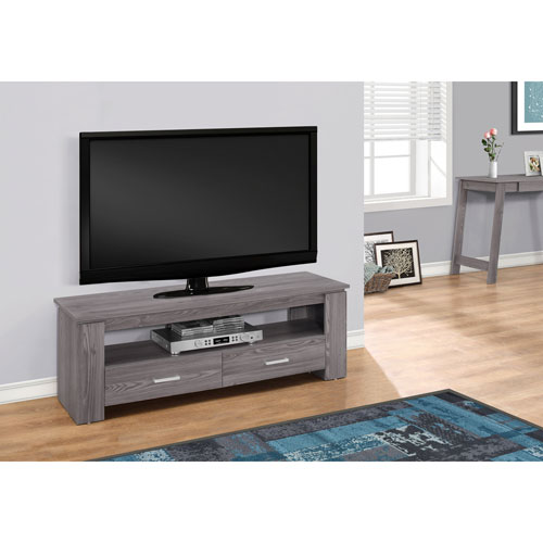 Hawthorne Ave Grey 48 Inch Tv Stand With 2 Storage Drawers I 2603