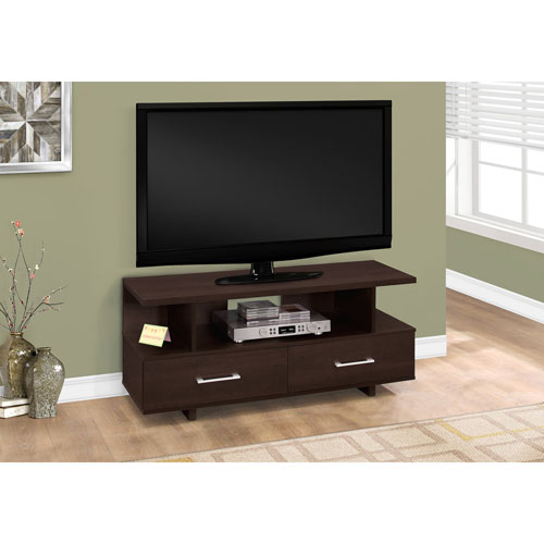 Hawthorne Ave 48-Inch Cappucino TV Stand with 2 Storage Drawers