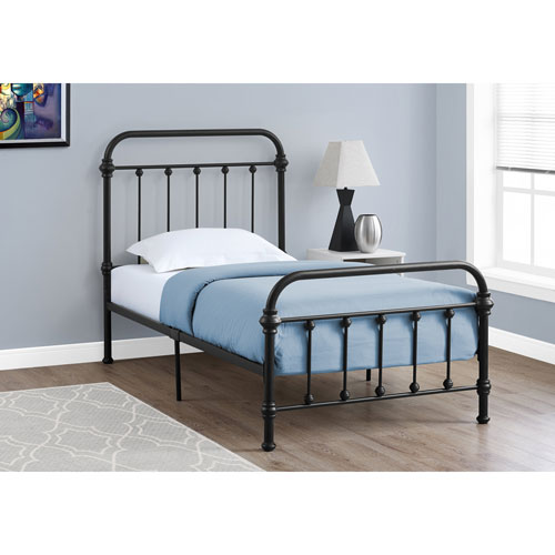 Hawthorne Ave Twin Bed Black Metal Frame Only