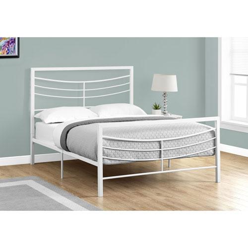 Hawthorne Ave Full Bed White Metal Frame Only