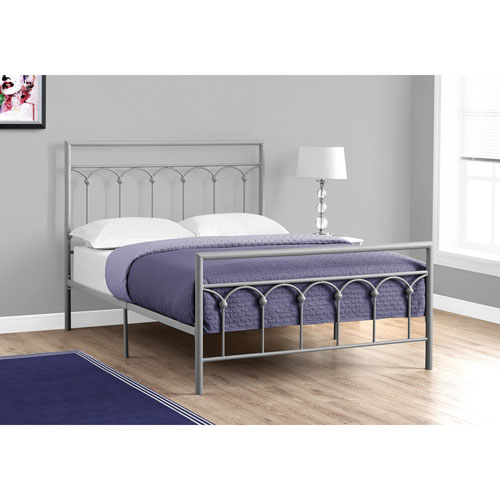 Full Bed Silver Metal Frame Only