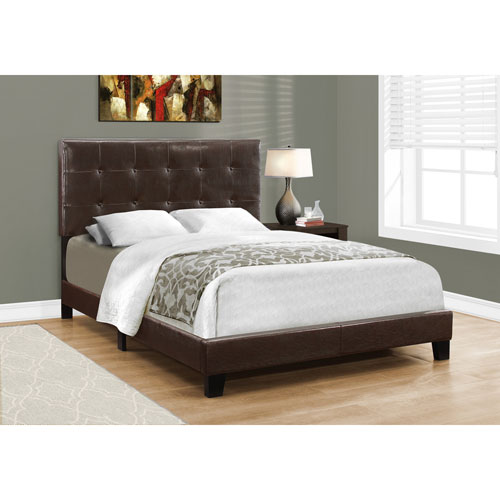 Hawthorne Ave Dark Brown Leather-Look Full Size Bed