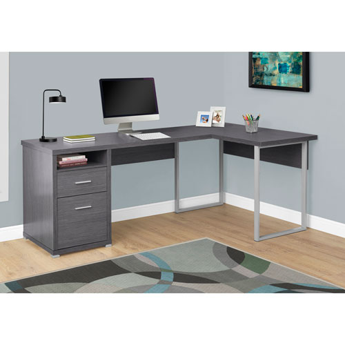 Hawthorne Ave Grey Left Or Right Facing Computer Desk