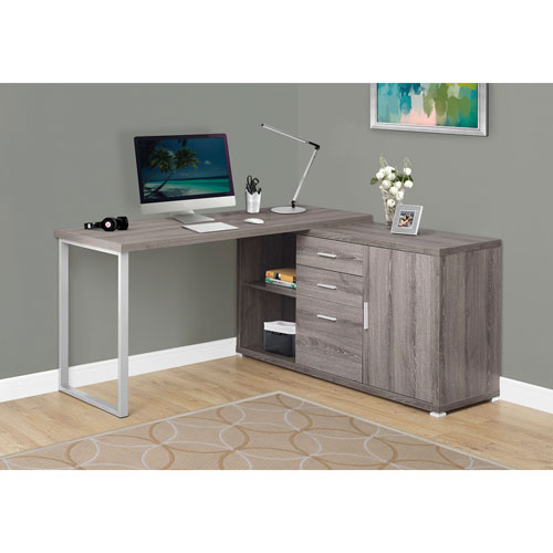 Hawthorne Ave Dark Taupe Left Or Right Facing Computer Desk