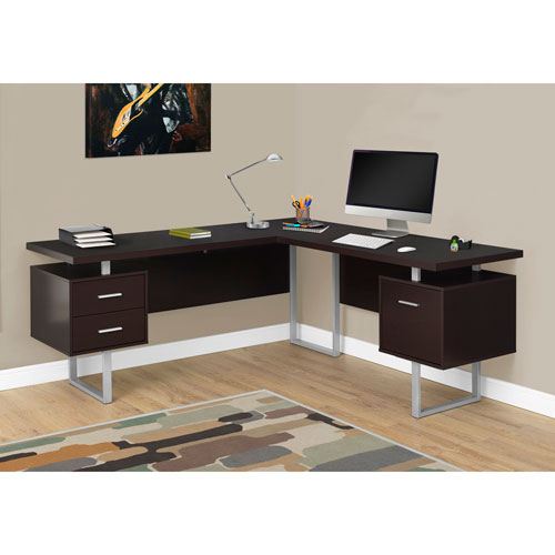 Hawthorne Ave Cappucino Left or Right Facing Computer Desk