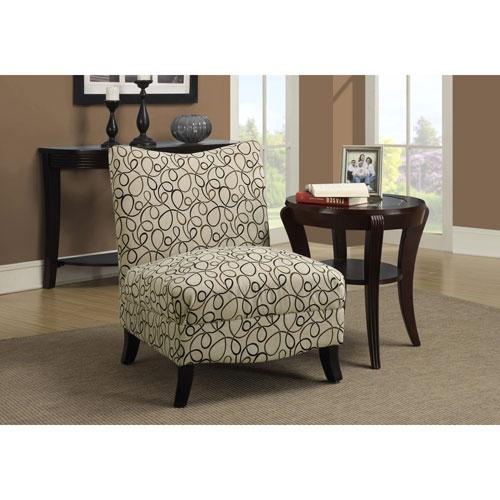 Hawthorne Ave Tan Swirl Fabric Accent Chair