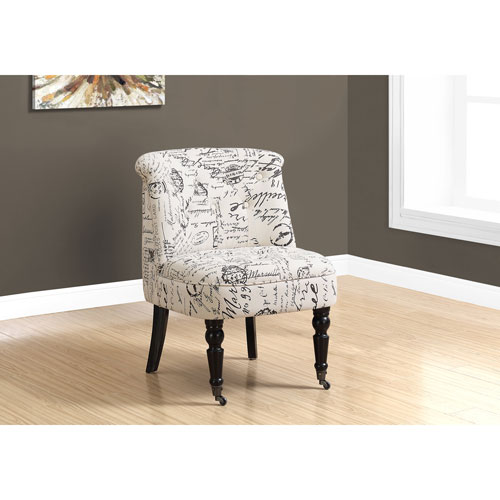 Traditional Style Vintage French Fabric Accent Chair