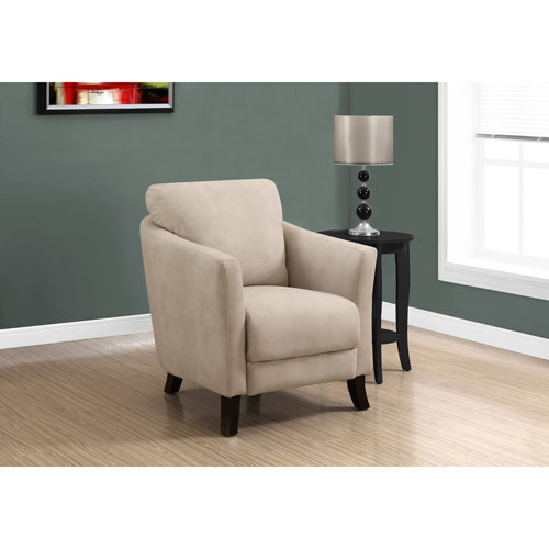 Hawthorne Ave Light Taupe Microfiber Accent Chair