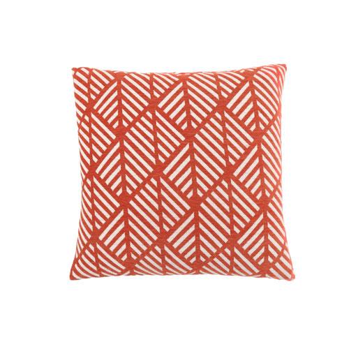 Hawthorne Ave 18-Inch Orange Geometric Design Pillow