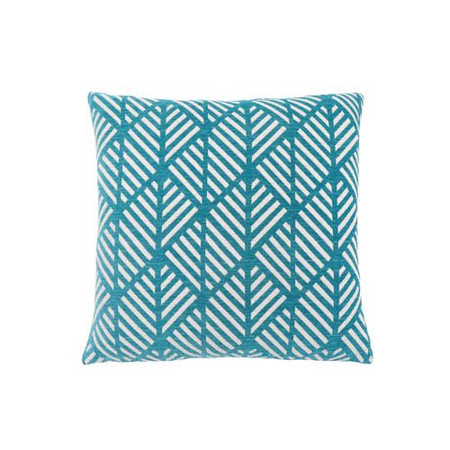 Hawthorne Ave 18-Inch Teal Geometric Design Pillow