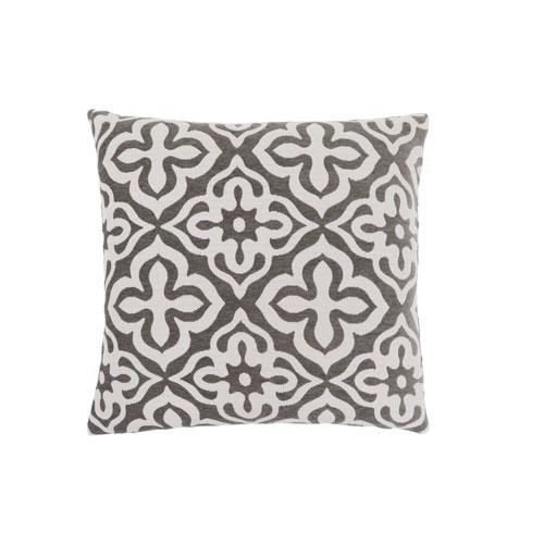 Hawthorne Ave 18-Inch Dark Taupe Motif Design Pillow