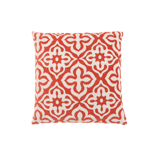 Hawthorne Ave 18-Inch Orange Motif Design Pillow