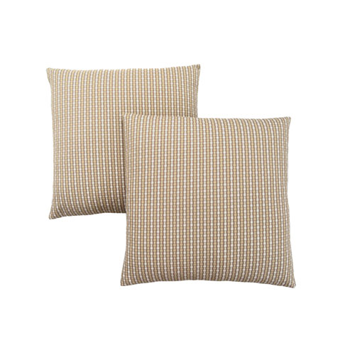 Hawthorne Ave 18-Inch Light and Dark Taupe Abstract Dot Pillow- Set of 2
