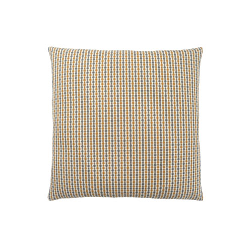 Hawthorne Ave 18-Inch Gold and Grey Abstract Dot Pillow