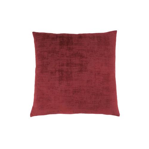 Hawthorne Ave 18-Inch Red Brushed Velvet Pillow