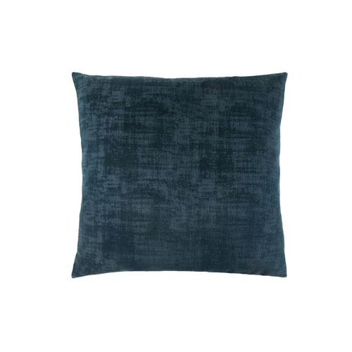 Hawthorne Ave 18-Inch Dark Blue Brushed Velvet Pillow