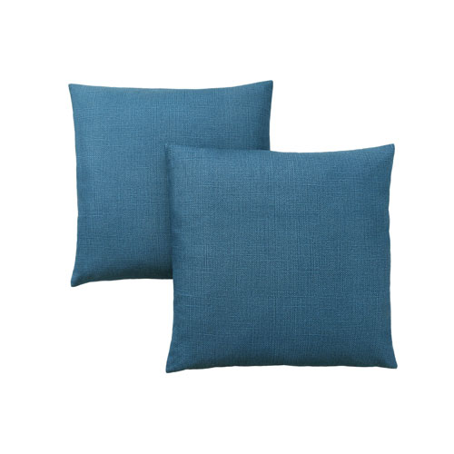 Hawthorne Ave 18-Inch Patterned Blue Pillow- Set of 2