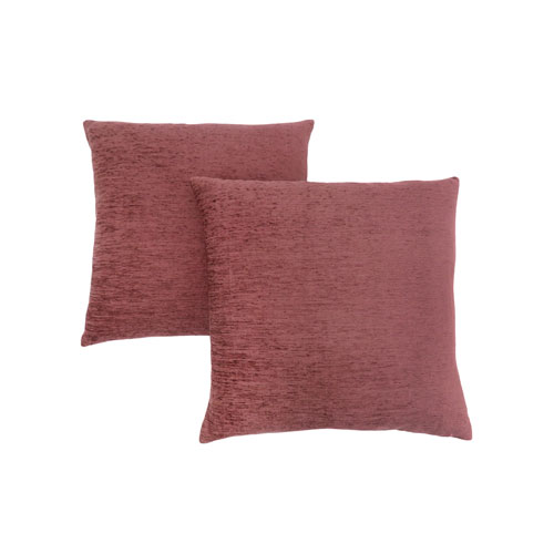 Hawthorne Ave 18-Inch Solid Dusty Rose Pillow- Set of 2