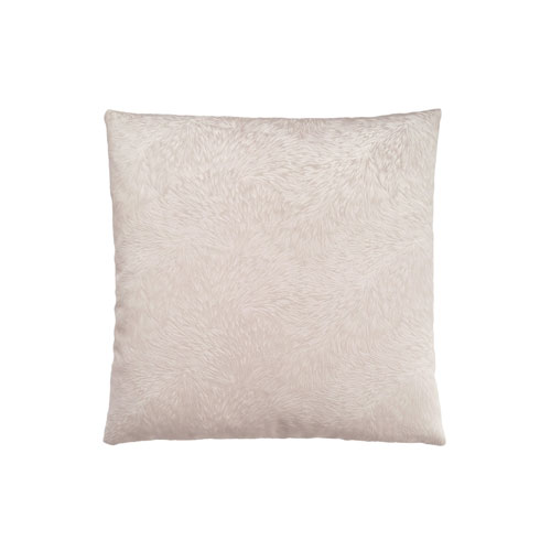 Hawthorne Ave 18-Inch Light Taupe Feathered Velvet Pillow