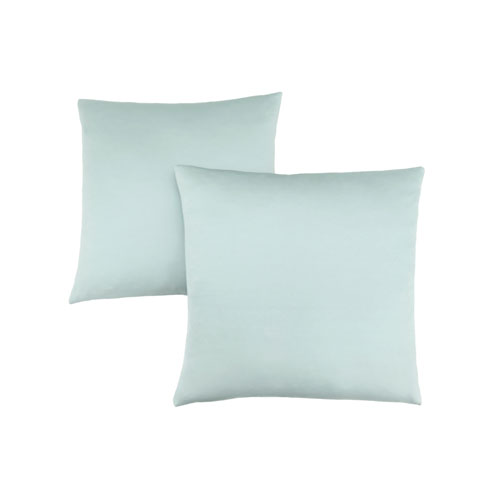 18-Inch Mint Satin Pillow- Set of 2