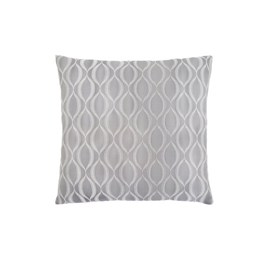 Hawthorne Ave 18-Inch Grey Wave Pattern Pillow