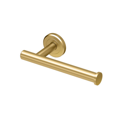 Latitude II Brushed Brass Toilet Paper Holder