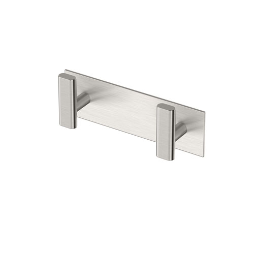 Elevate All Modern Decor Double Hook Satin Nickel