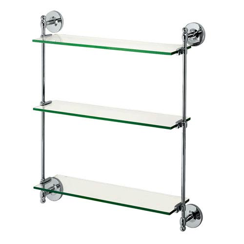 Premier Chrome Triple Glass Shelf