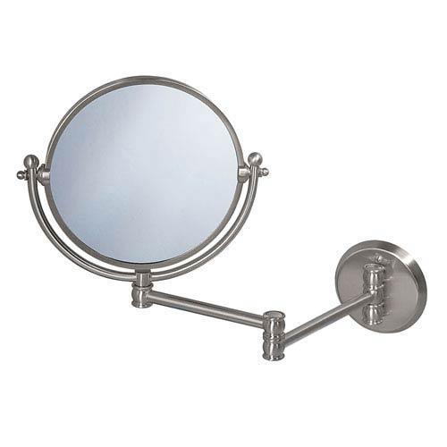 Premier Satin Nickel Swing Arm Mirror