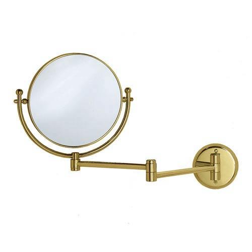 Premier Polished Brass Swing Arm Mirror