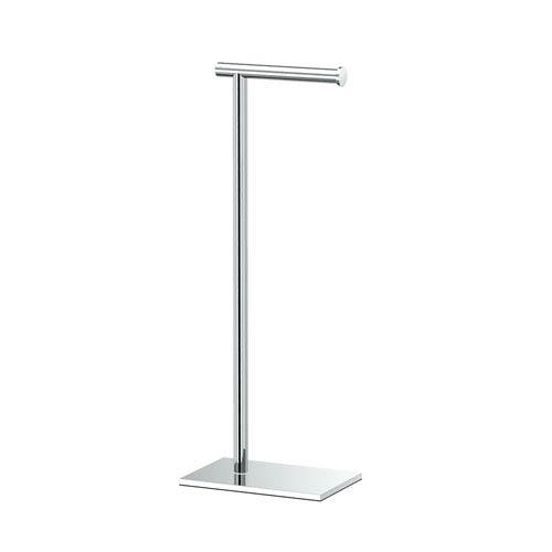 Chrome 22.25-Inch Modern Square Base Tissue Holder Stand