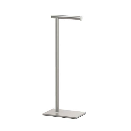 Satin Nickel 22.25-Inch Modern Square Base Tissue Holder Stand