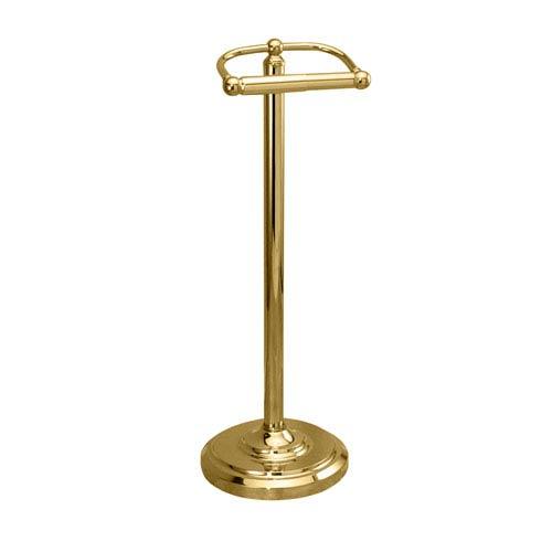 Polished Brass Floor Standing Tissue Holder