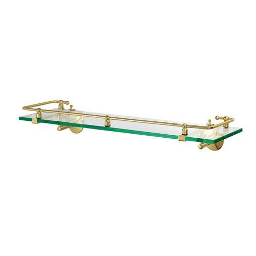 Premier Polished Brass Railing Shelf