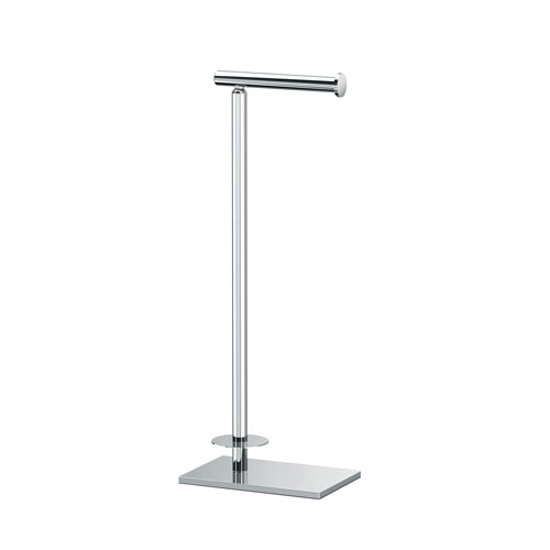 Modern Square Base Tissue Holder Stand With Storage Chrome