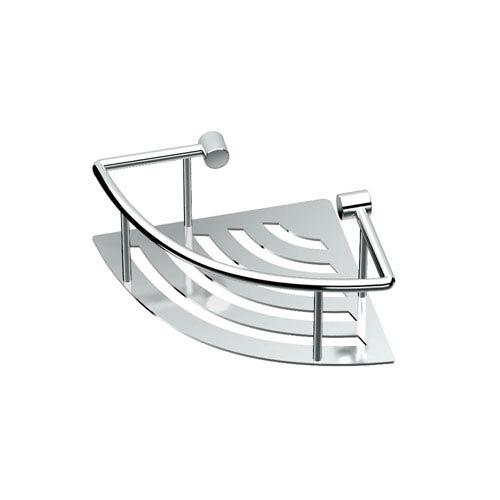 Elegant Chrome 8-Inch Corner Shelf