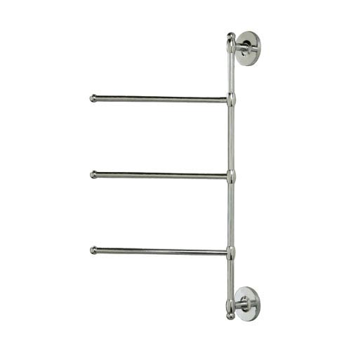 Chrome Wall Mounted Three Arm Towel Rack