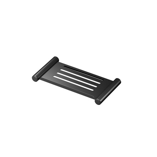 Elegant 10-Inch Shower Shelf in Matte Black