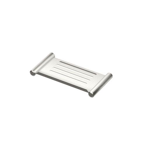 Elegant Brushed Nickel 10-Inch Shower Shelf
