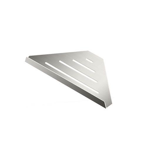 Elegant Hotel Corner Shelf 9-inch Satin Nickel