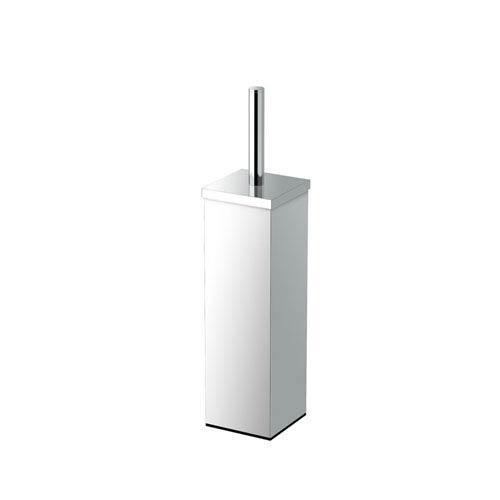 Square Toilet Brush Holder 14.5-inch Chrome