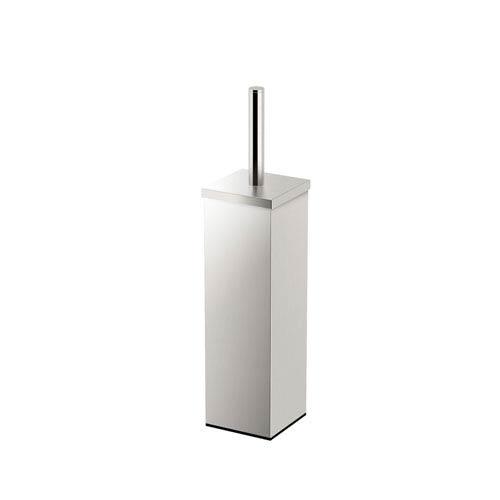 Square Toilet Brush Holder 14.5-inch Satin Nickel