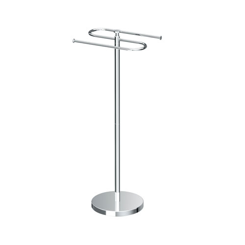 Modern Floor Towel Holder Chrome