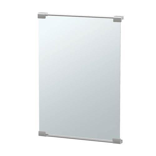 Fixed Mount Decor 22 x 30-Inch Mirror Satin Nickel