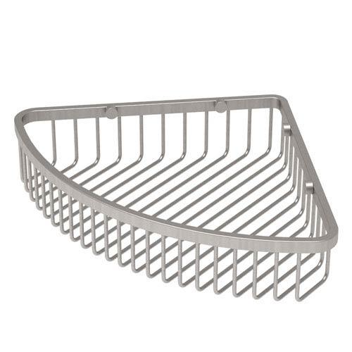 Satin Nickel Corner Shower Basket