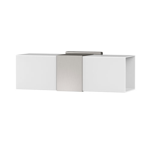 Elevate Double Sconce Satin Nickel