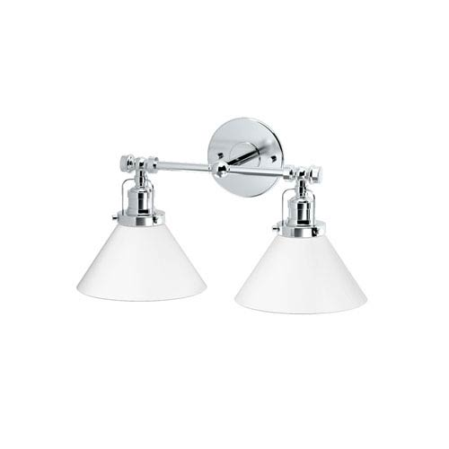 Café Chrome Double Sconce